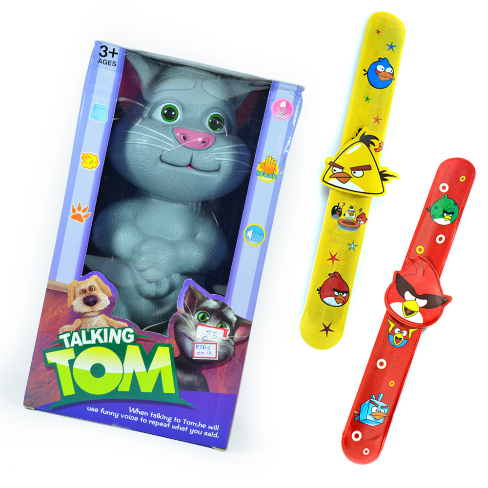 Talking TOM with Twin Angry Birds Rakhi Bands