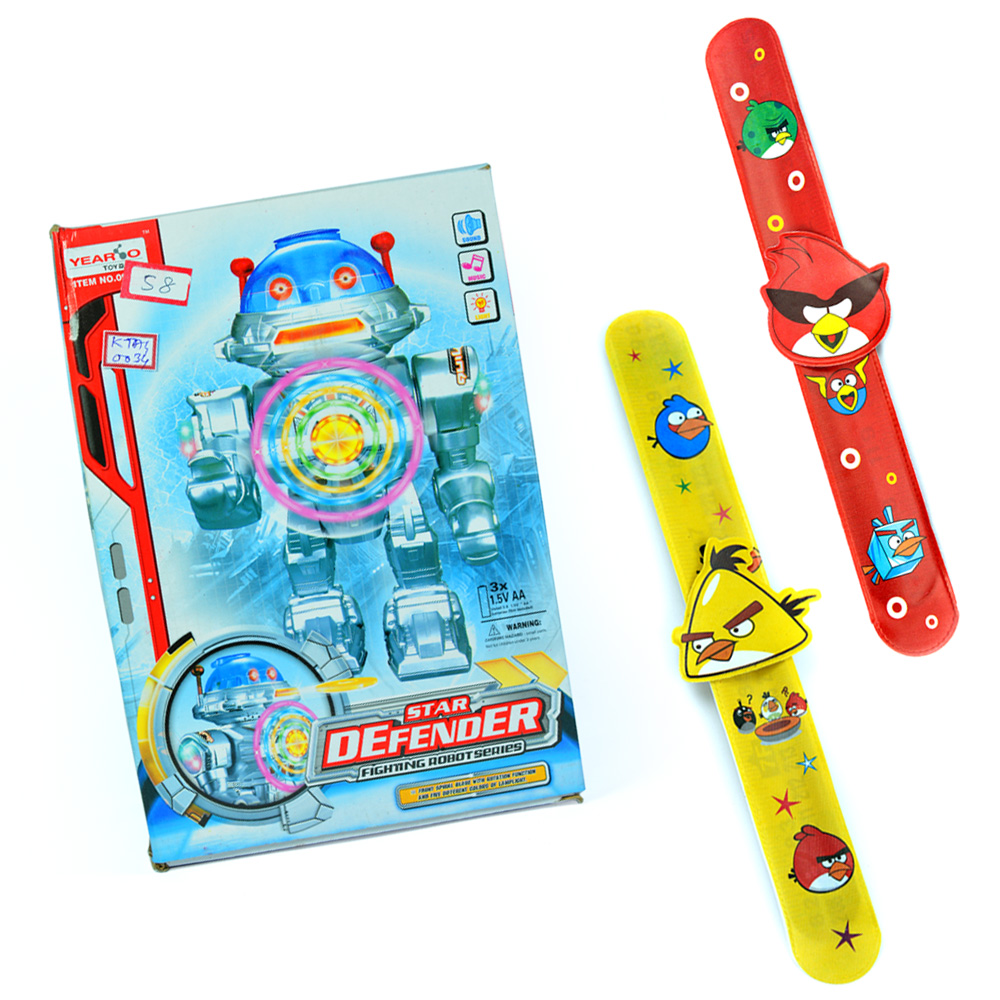 Star Defender n Angry Birds Kids Rakhi Band Pair