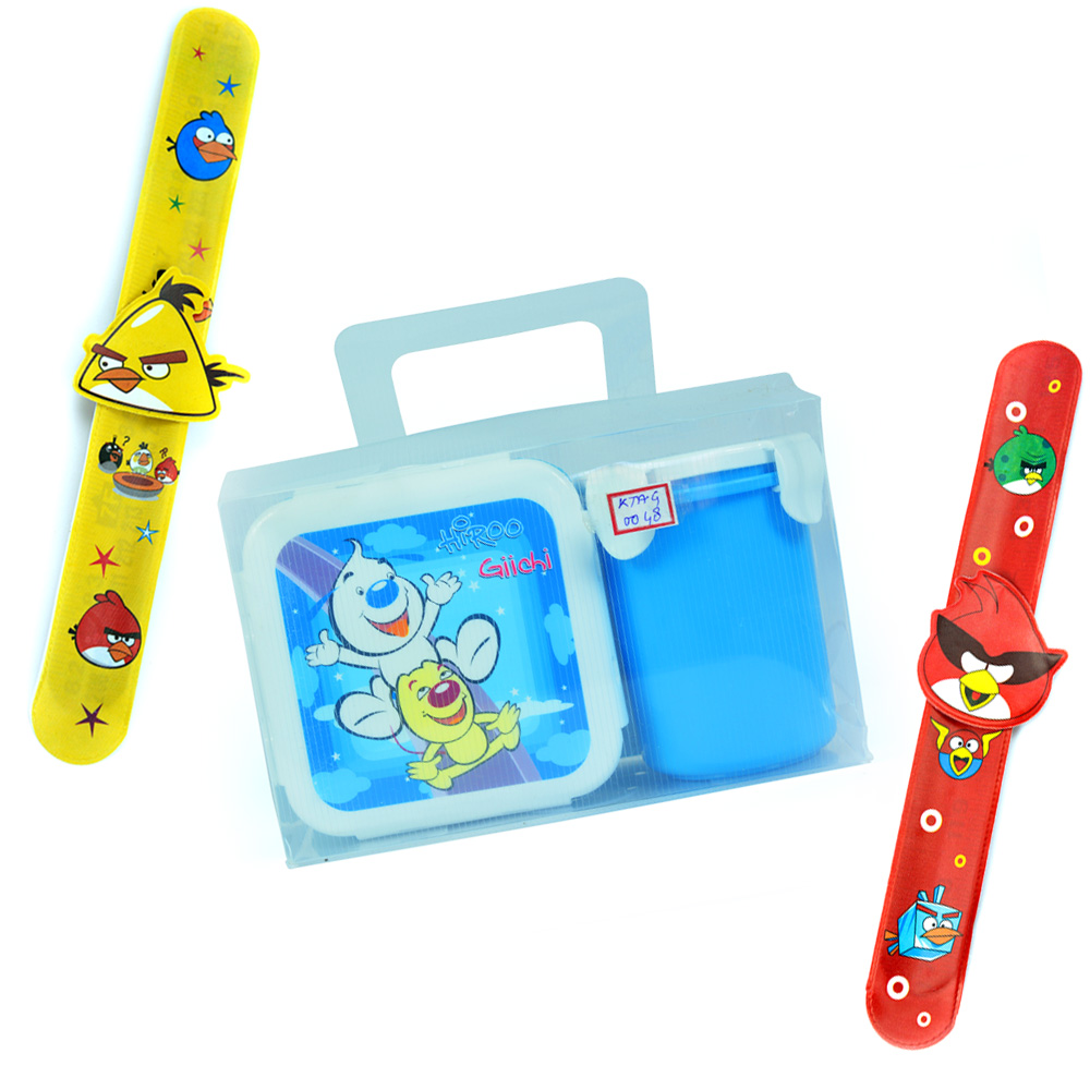 Hiroo-Tiffin n Cup n Angry Birds 2 Band Rakhis