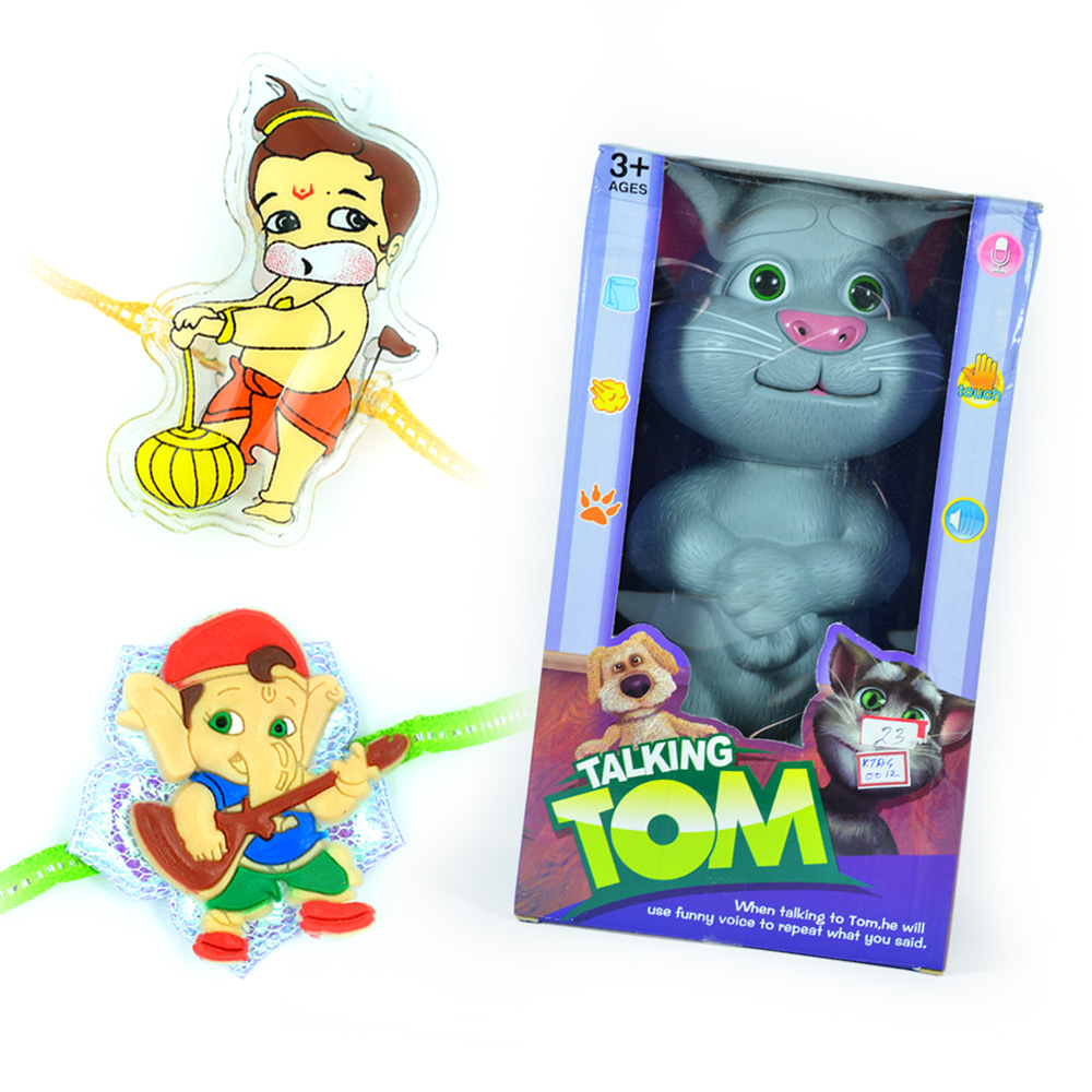 Talking TOM with Little Ganesha-Bal Hanuman Rakhis