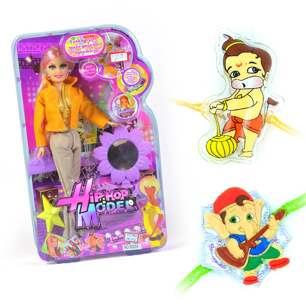 Hip-Hop Model-Doll n 2 Rakhi-Ganesha and Hanuman