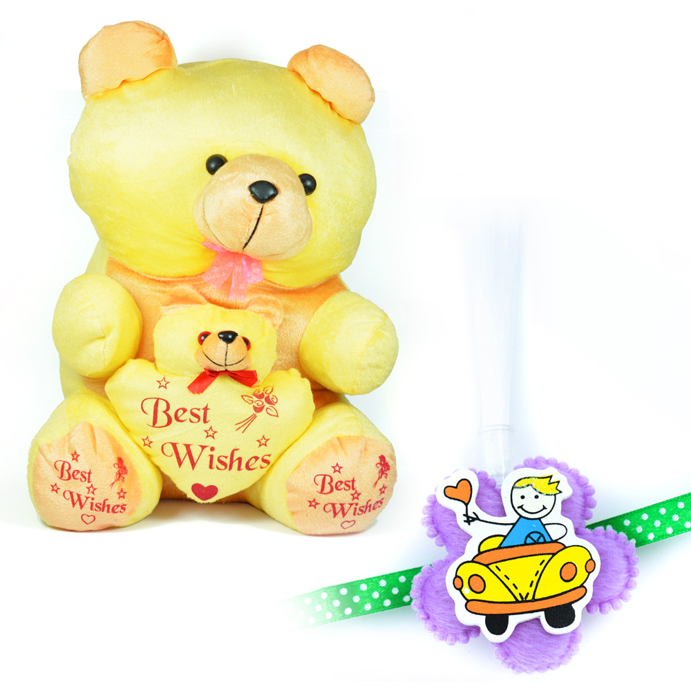 Best Wishes Teddy Bear n Cuty Little Kid Bear with Kids Rakhi