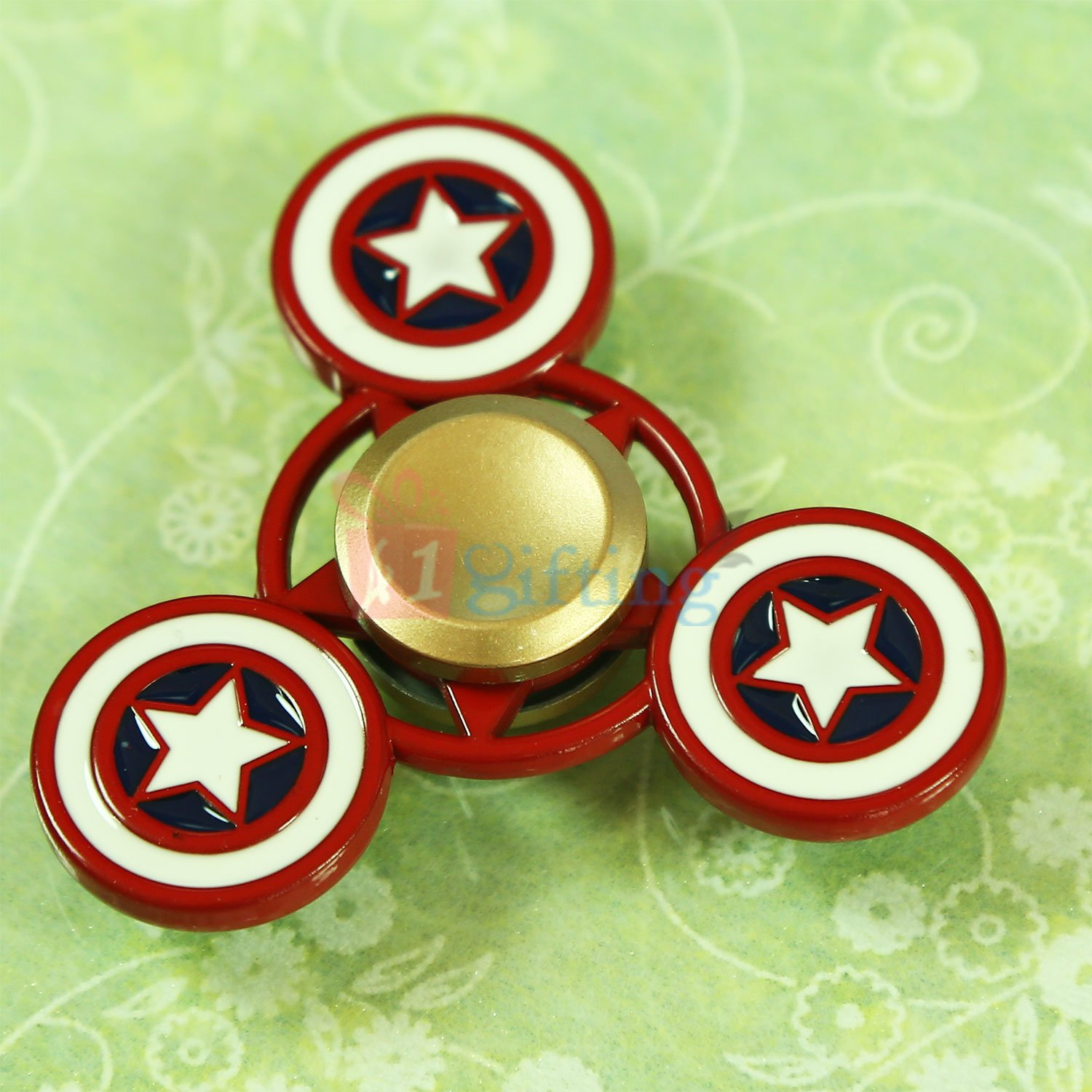 Pure Metalic Captain America Superb Quality Spinner
