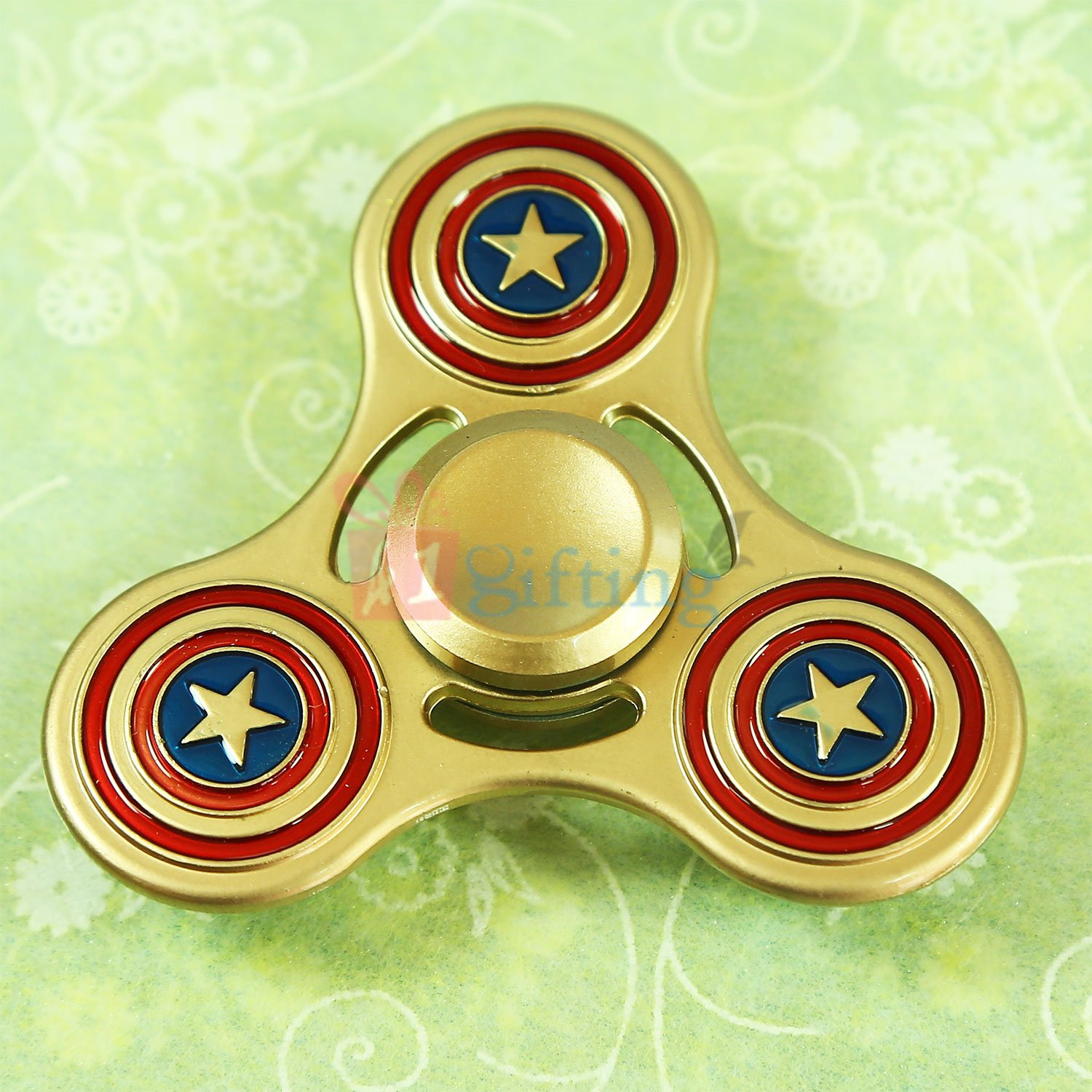 Golden Captain America Superb Quality Metalic Spinner