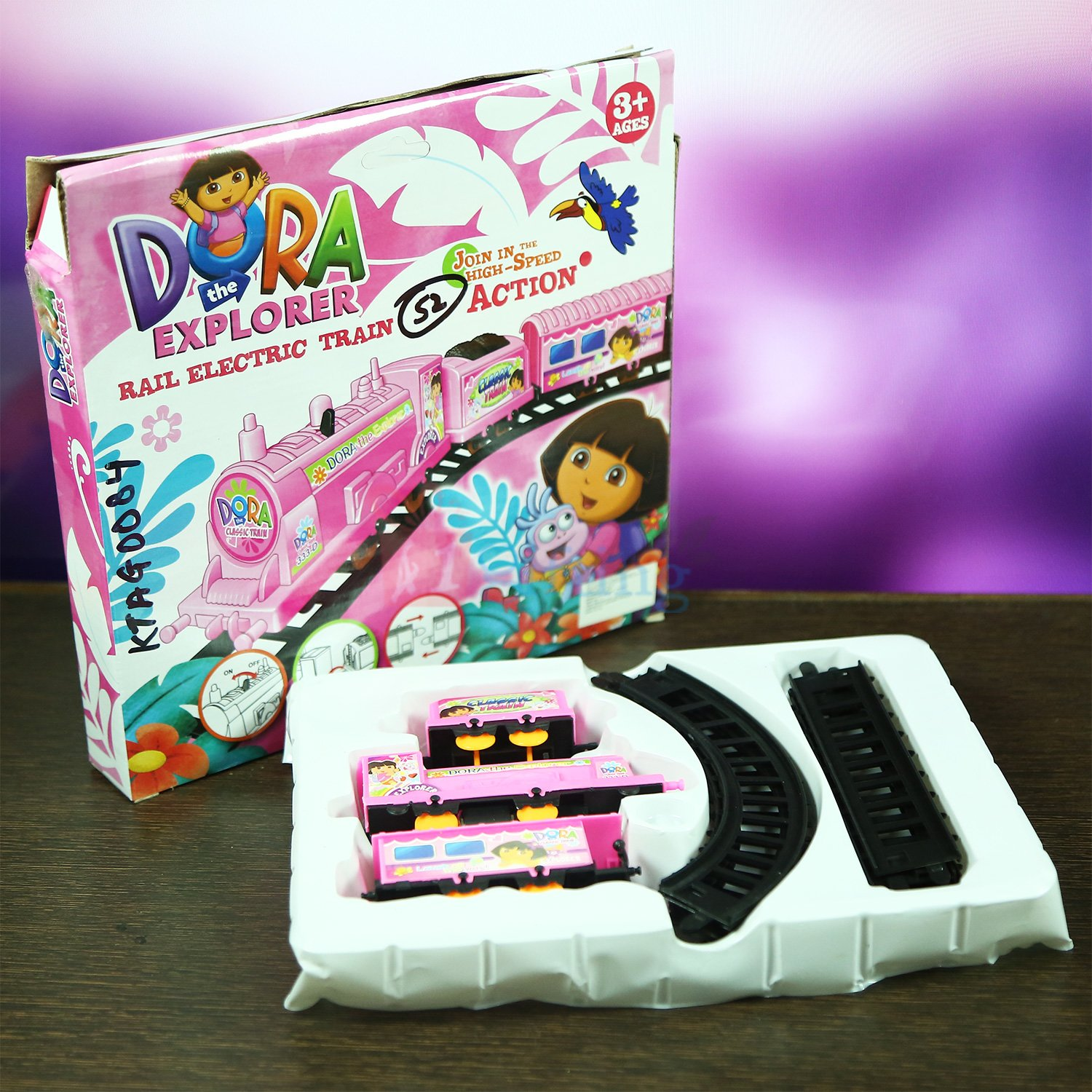 Dora the Explorer Train with Track Kids Toy Gift
