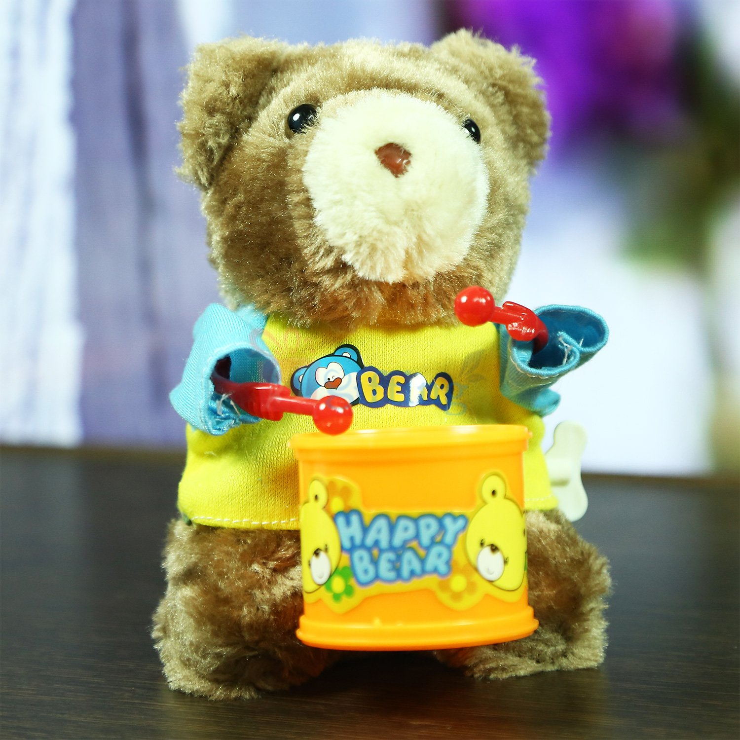 Dancing and Drumming Happy Bear Toy for Kids