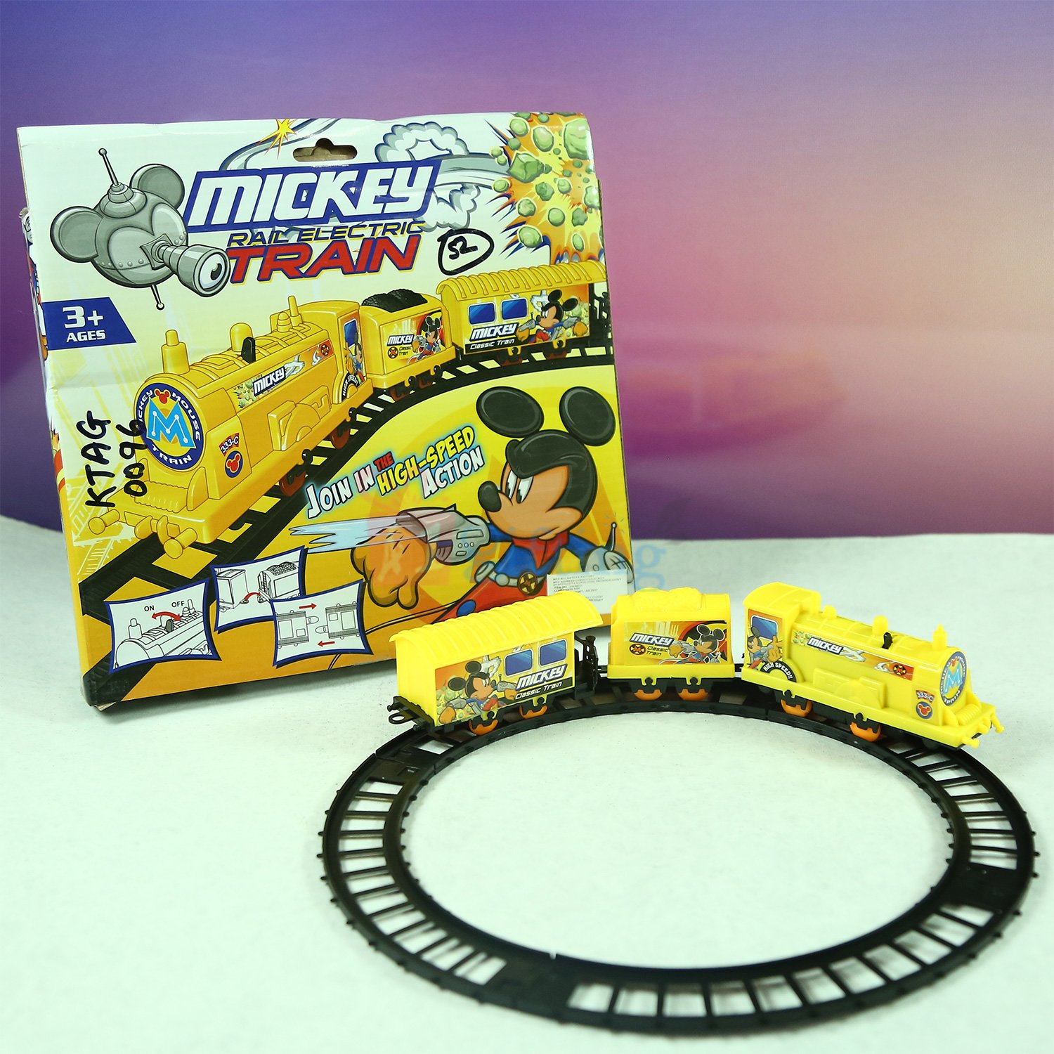 Mickey Train Kids Toy with Track Set