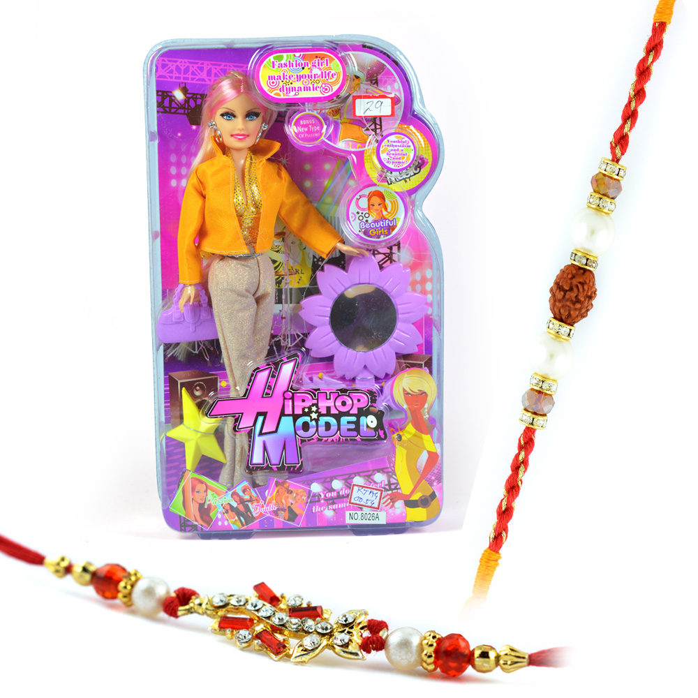 Hip-Hop Model-Doll Toy n 2 Pearl-Rudraksh Rakhis