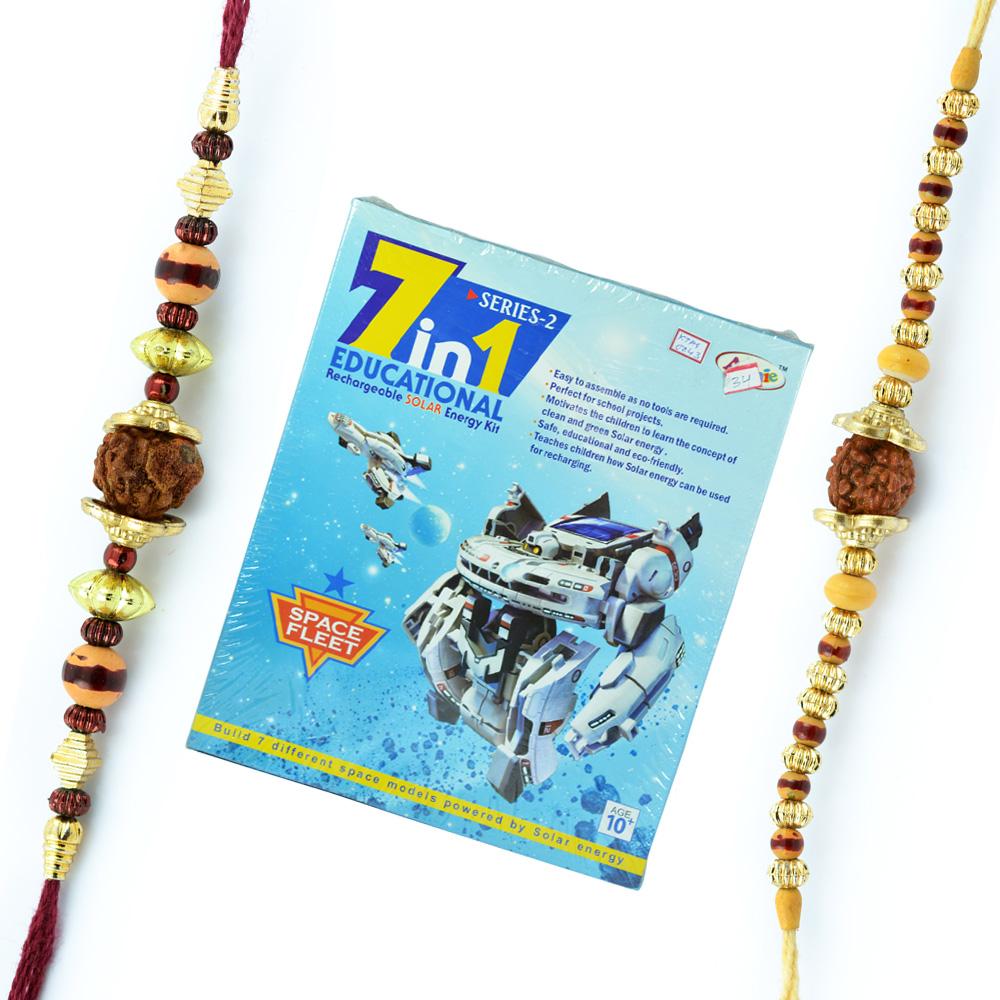 Space Fleet-7 in 1 Educational Kids Game n 2 Thread Rakhis