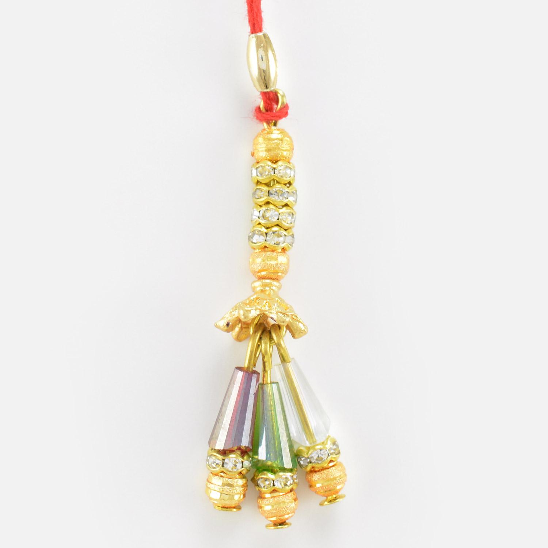 Designer Golden Diamond Lumba for Bhabhi