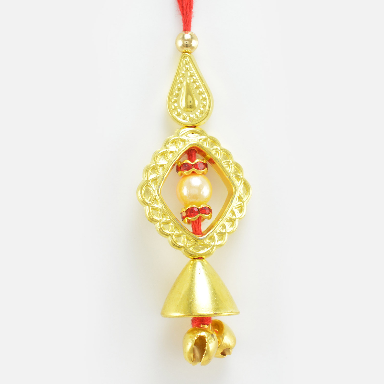 Grace of Pearl and Diamond Lumba Rakhi