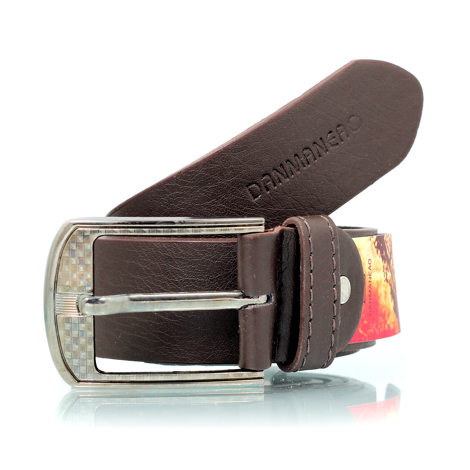 Danmaneao Printed Formal Leather Belt