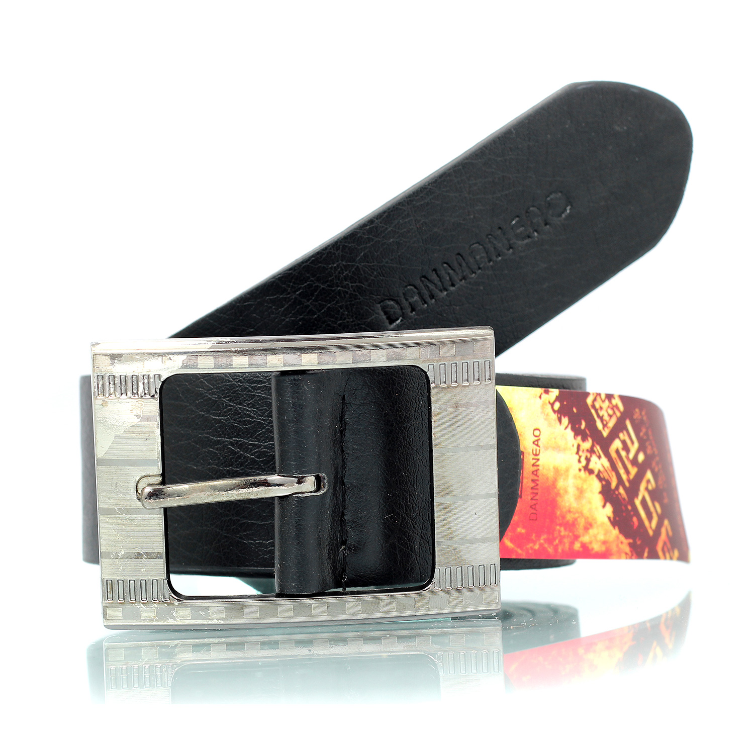 Graceful and Official Leather Belt for Men Danmaneo Print