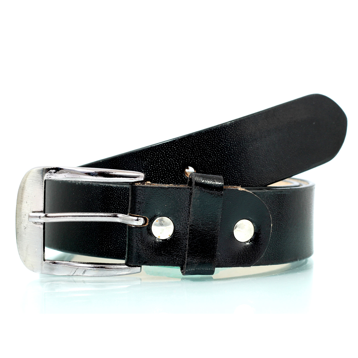 Drazekraft beautifully designed simple formal black leather belt for men