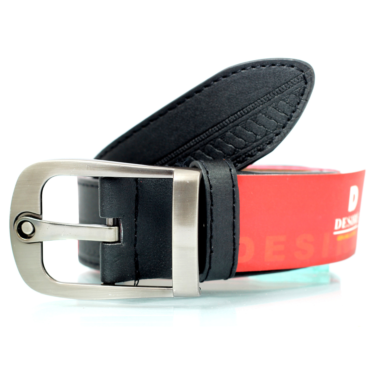 Fashionable party wear double textured desire leather belt