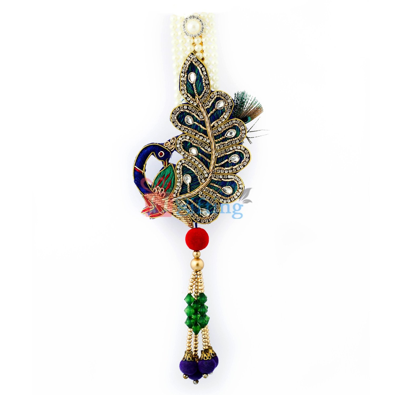 Antique design of peacock with pearl kamar satka