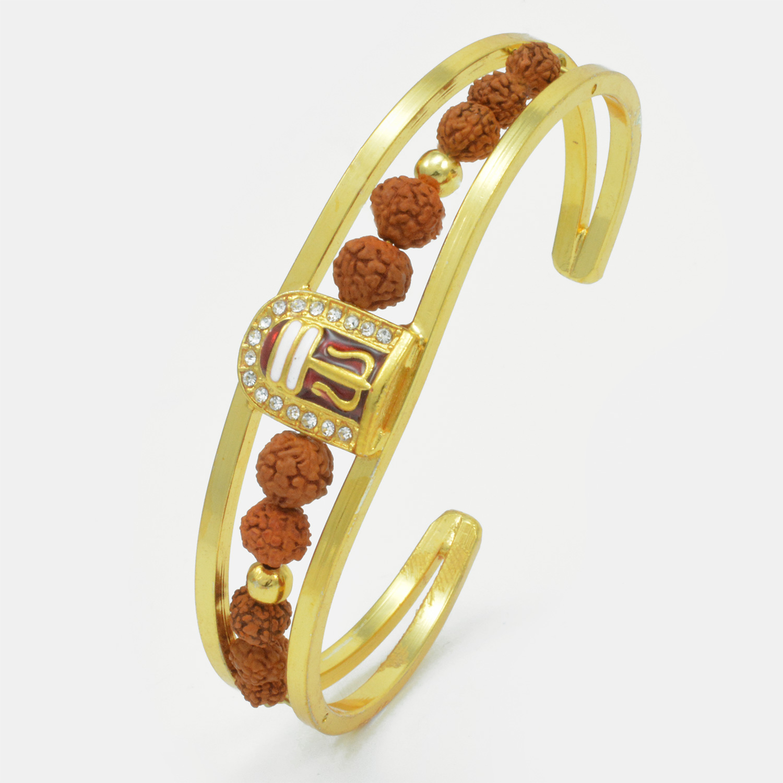 Auspicious Shivling with Diamonds Bracelet Rakhi