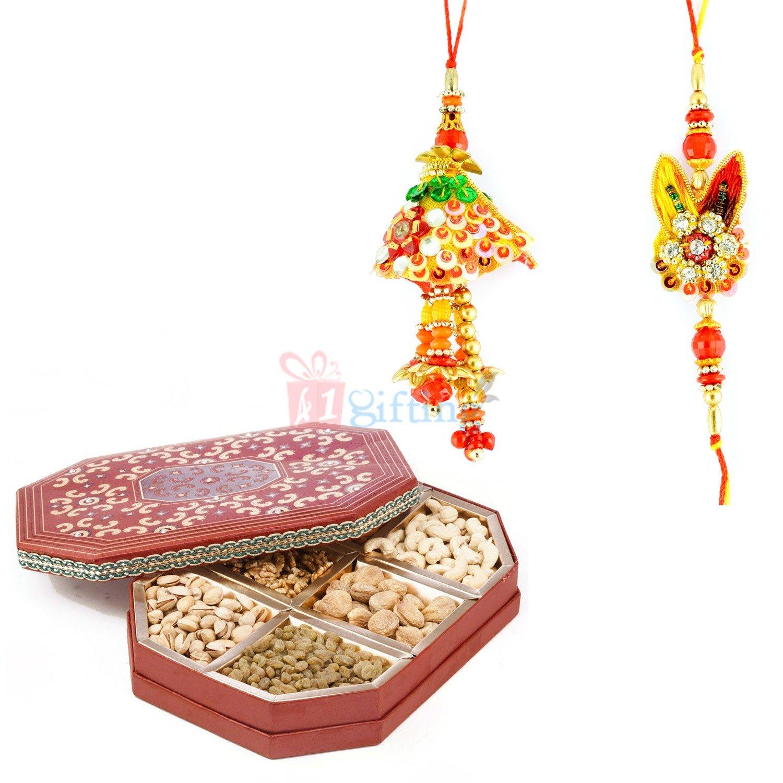 Admirable Rakhi Set of Bhaiya Bhabhi with
