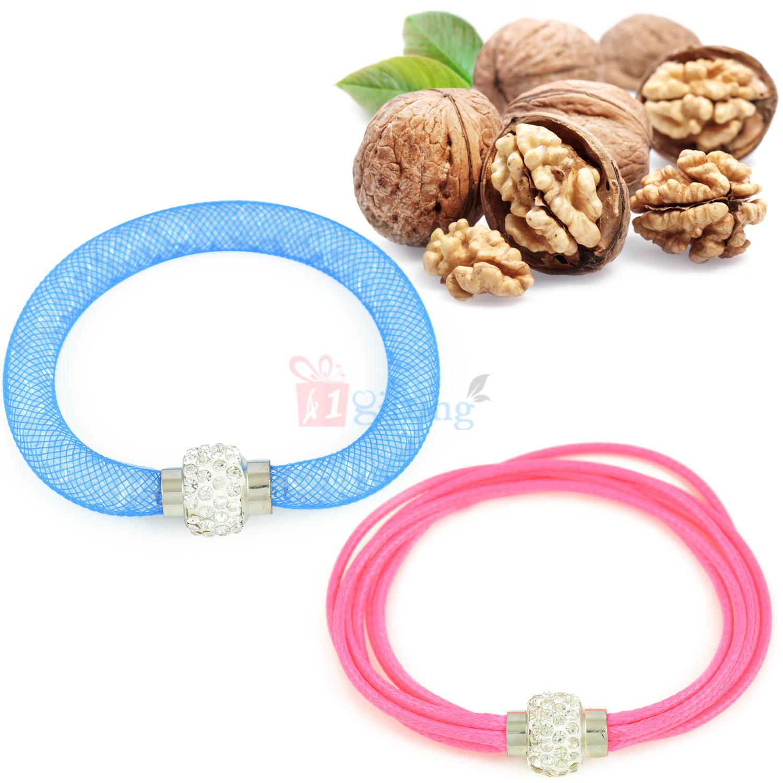 Two Ladies Bracelet with Walnuts Dryfruits Hamper