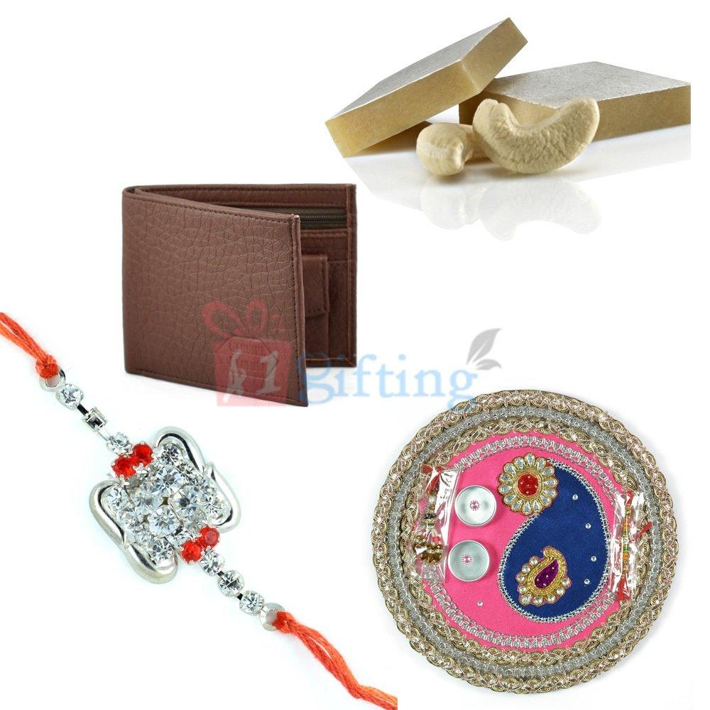 Beautiful Handimade Rakhi Pooja Thali Gift Hamper