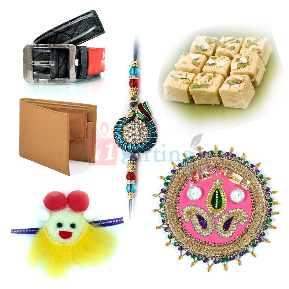 Sweet Rakhi Gift with Gifting Items for Brother