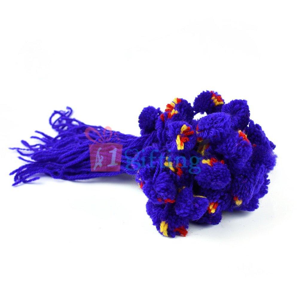 Traditional Blue Ram Rakhi Set of 20