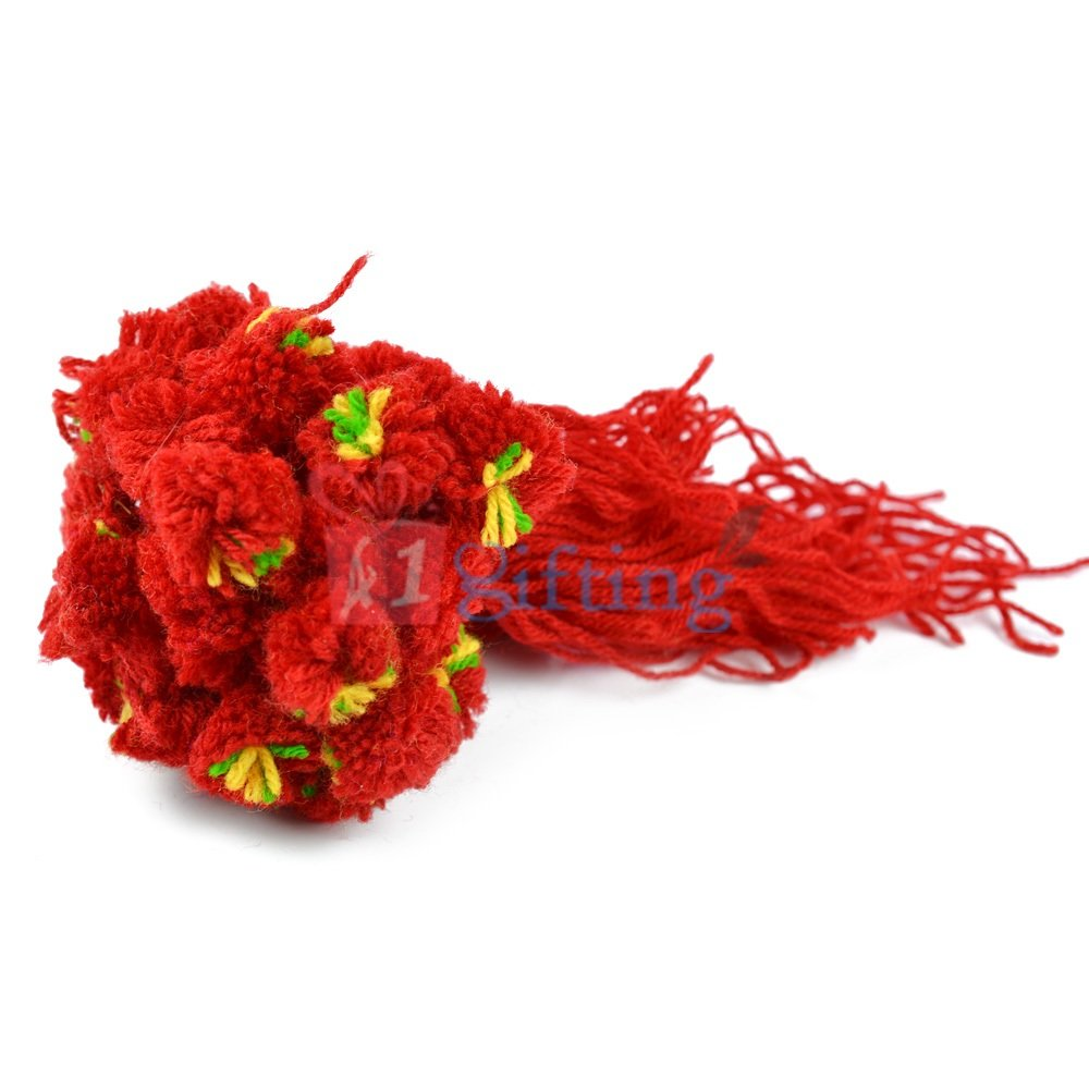 Traditional Red Ram Rakhi Set of 20