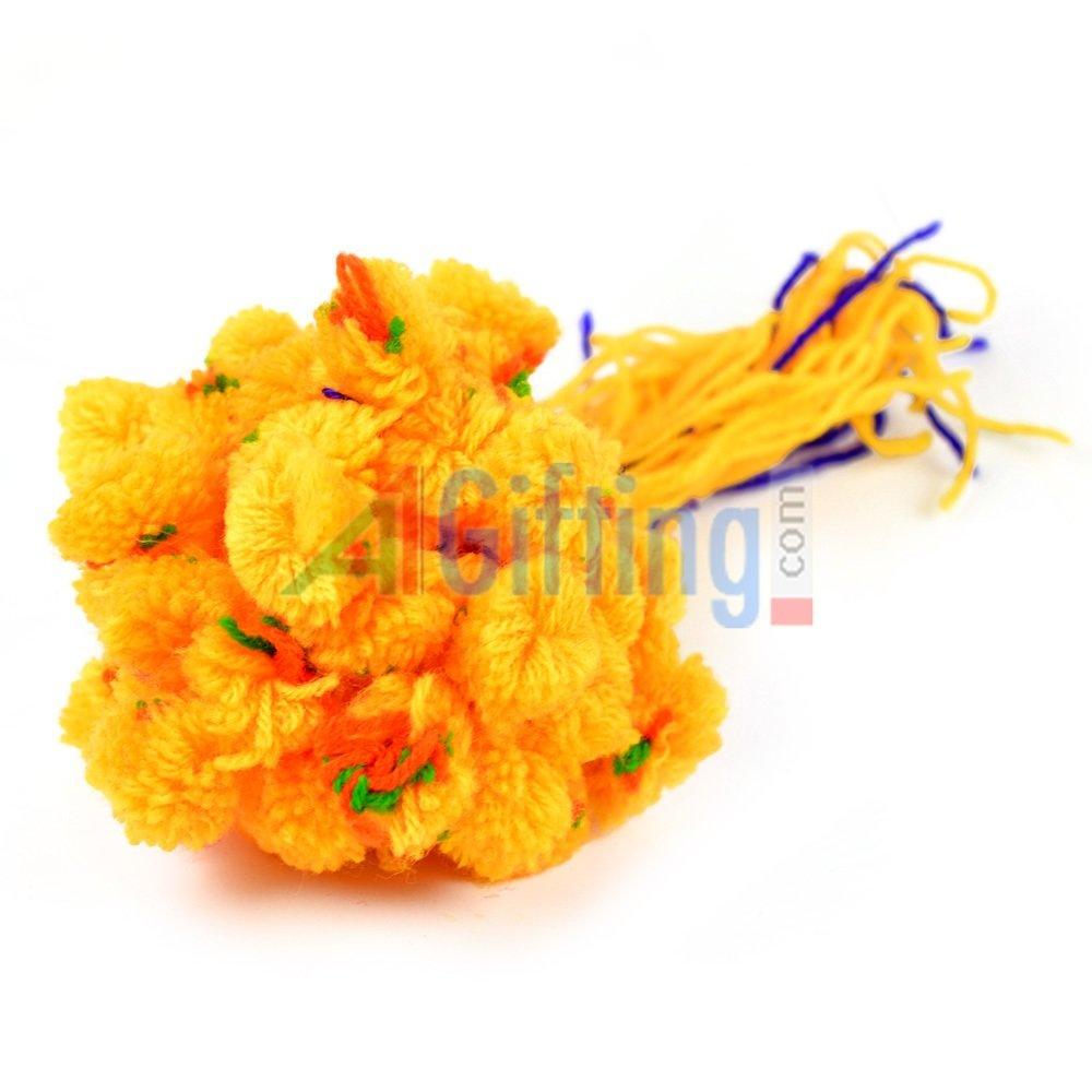 Traditional Yellow Ram Rakhi Set of 50