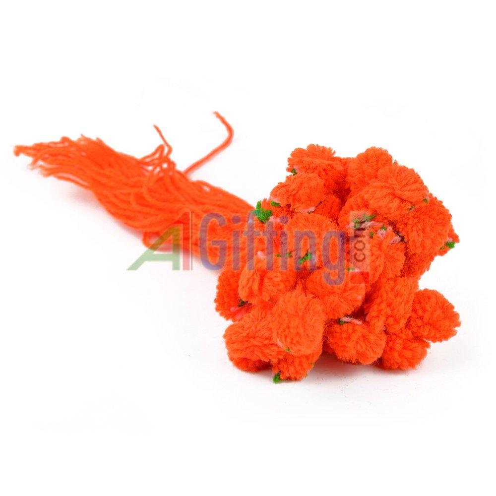 Traditional Orange Ram Rakhi Set of 100