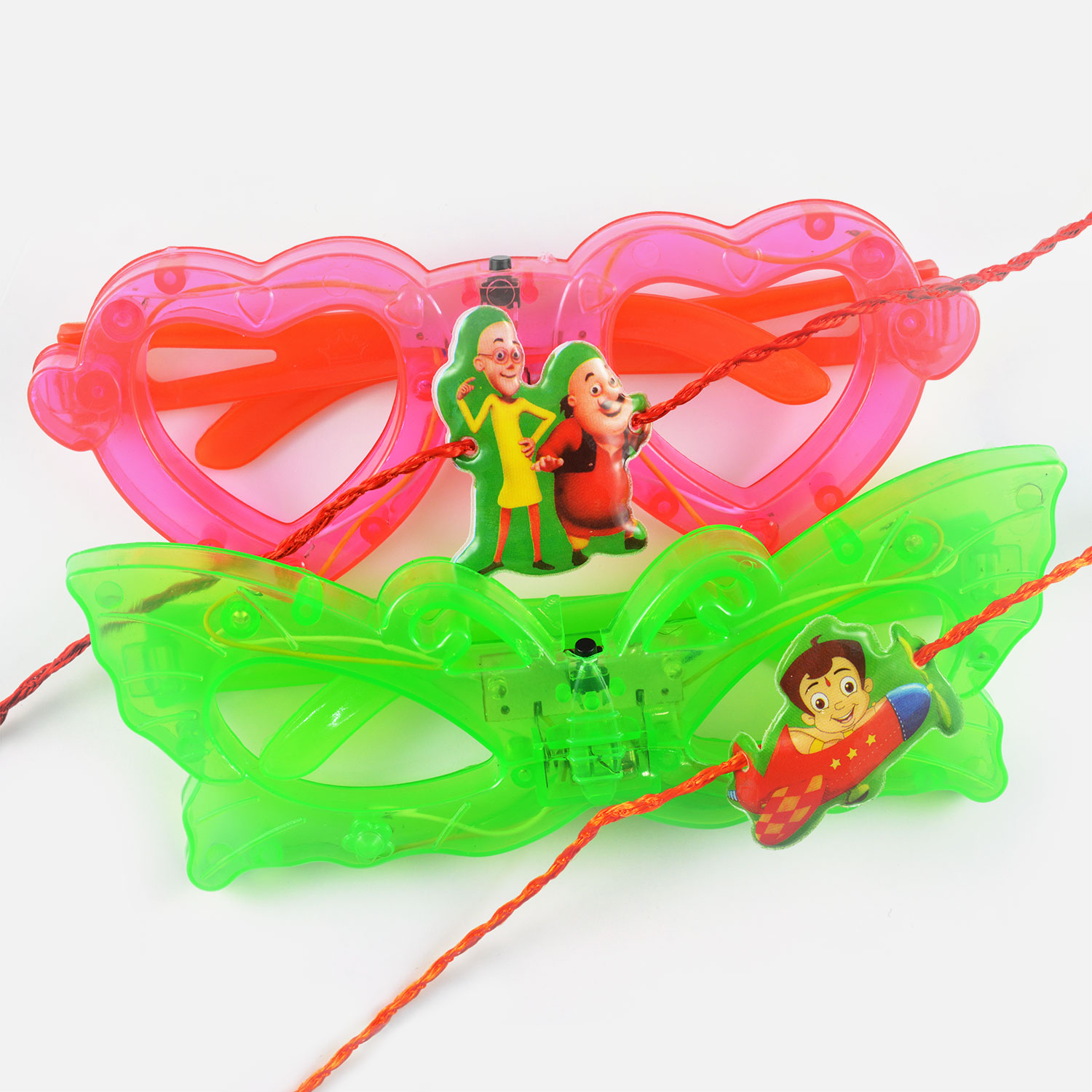 Motu Patlu and Pilot Chhota Bheem Rakhi Set of 2 for Kids