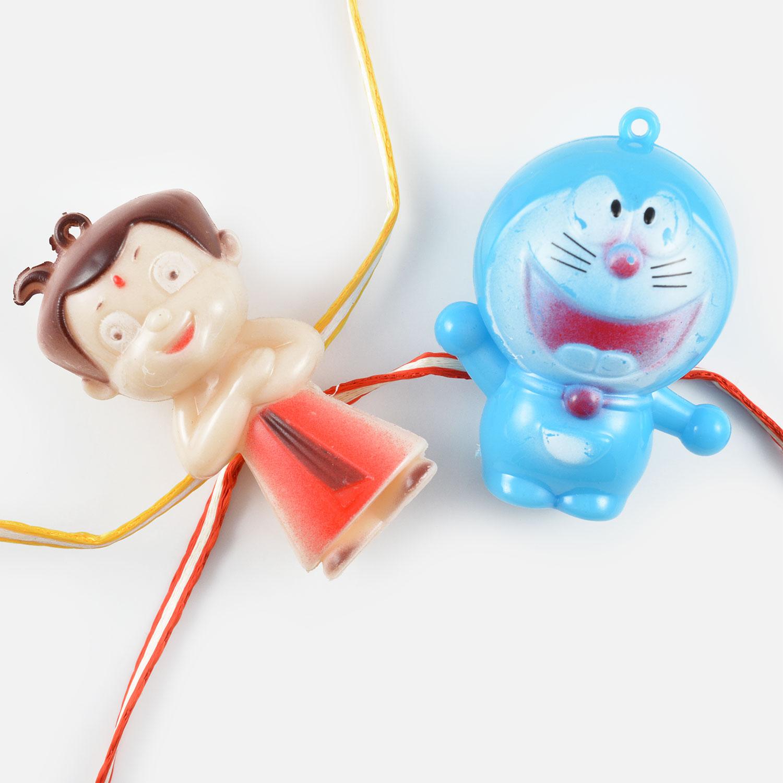 Magnificient Chhota Bheem and Doraemon Rakhi Set of 2