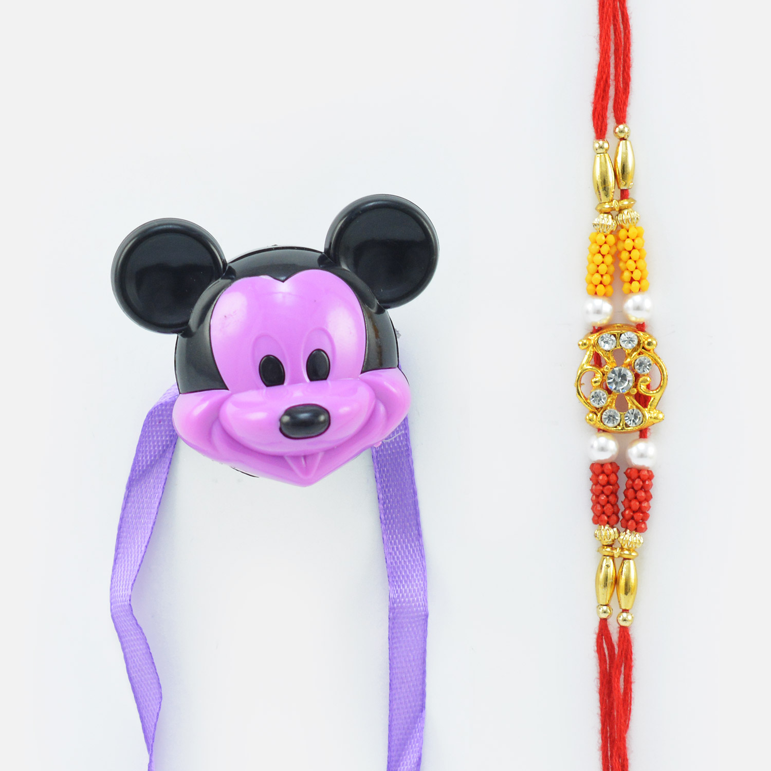 Mickey Mouse Sharpner Kid Rakhi with Fancy Rakhi for Brother
