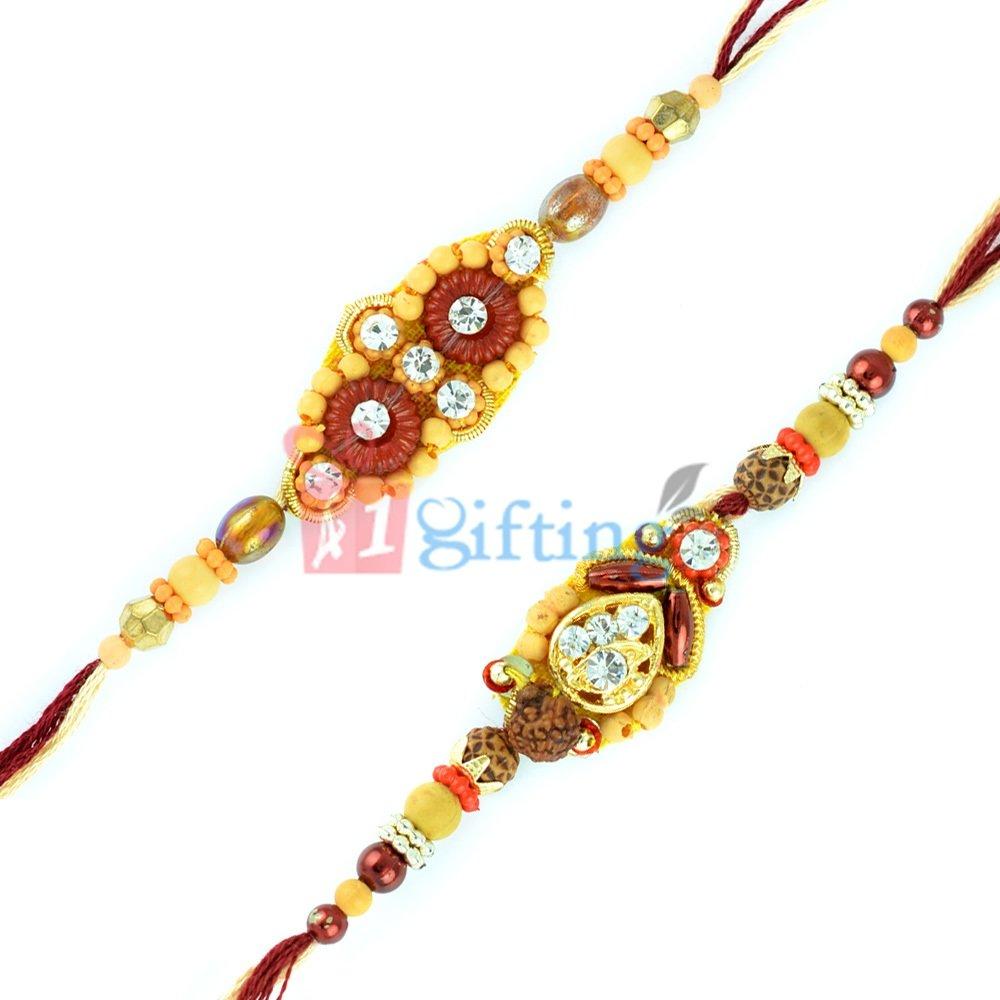Beautiful Plural Sandalwood Combo Rakhi Gift