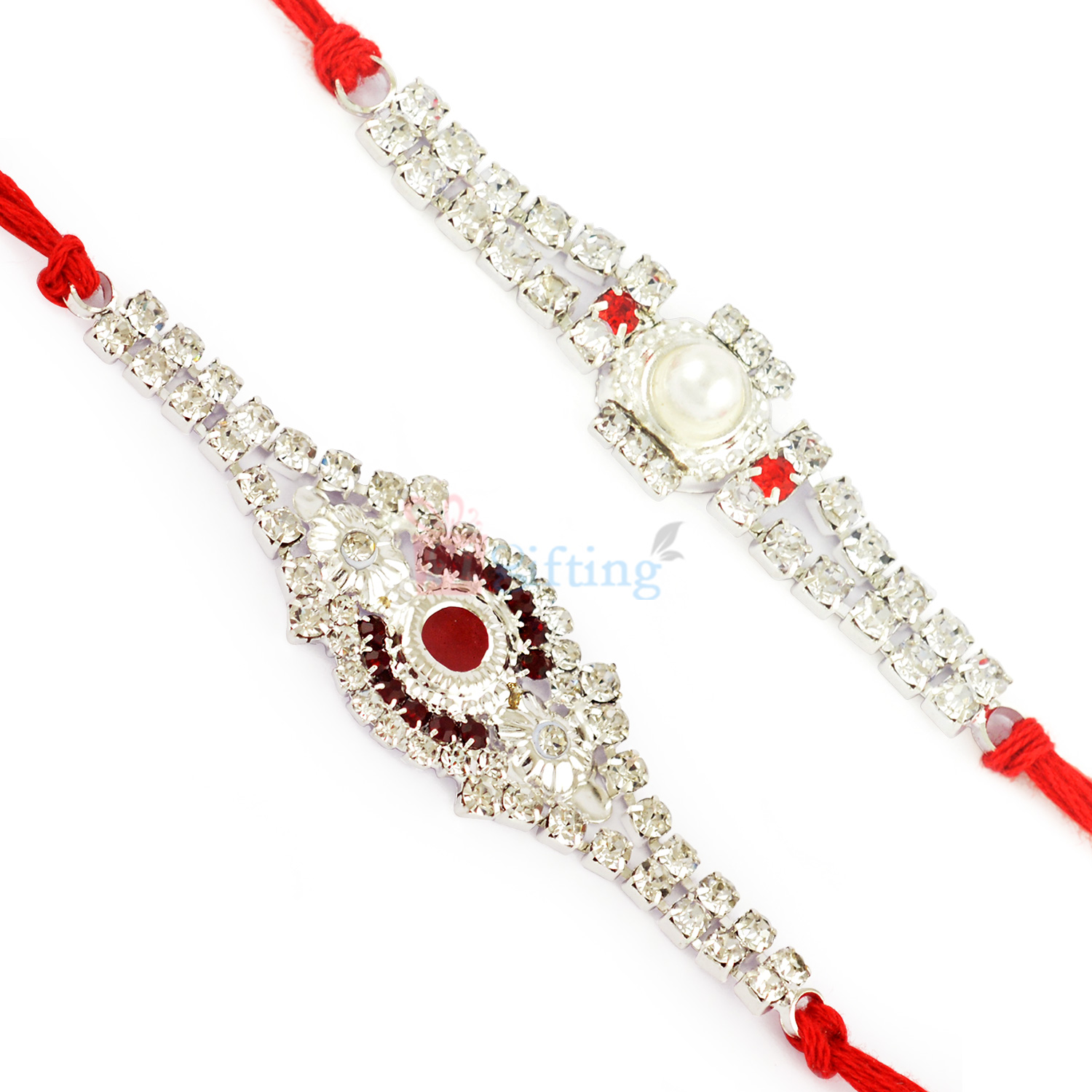 Exclusive Diamond Rakhi Collection of 2 Rakhis