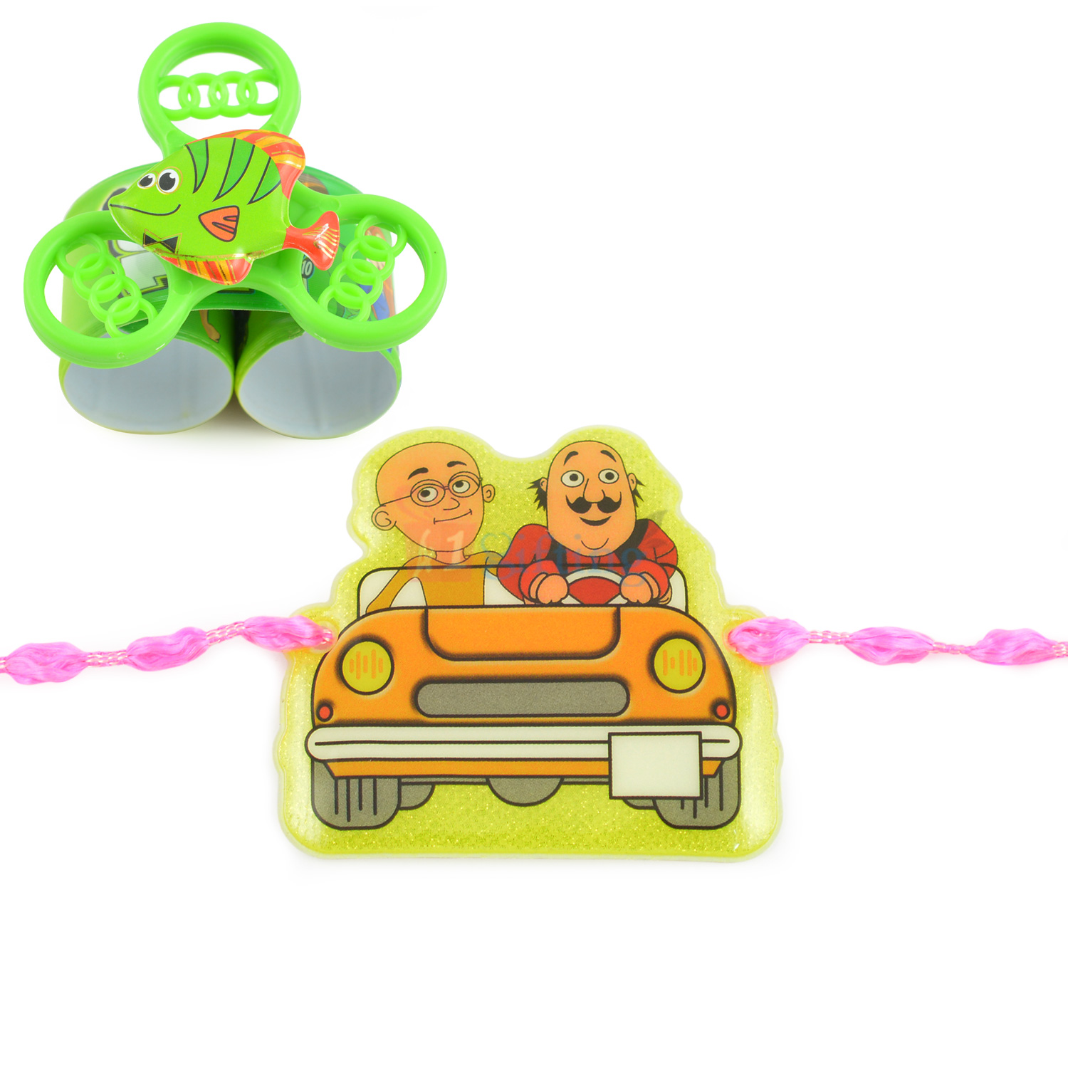 Motu Patlu and Kids Spinner Rakhi Combo for Kids