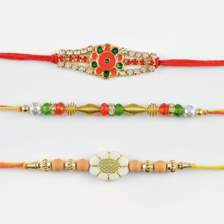 Traditional Rakhi Combo of 3