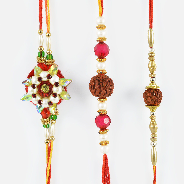 Divine Rudraksha Rakhi Set