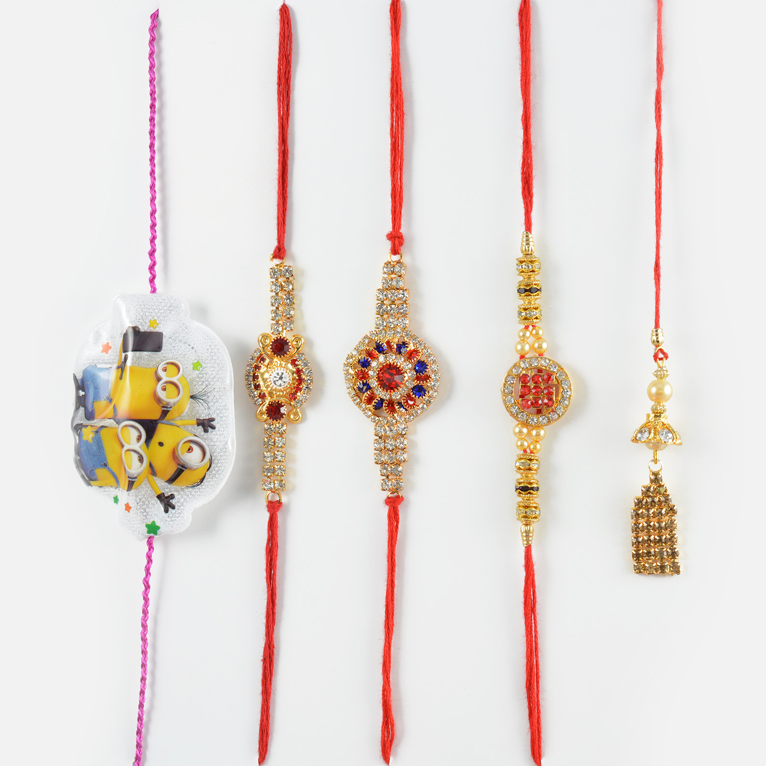 Pretty Brother and Minions Rakhi for Kids