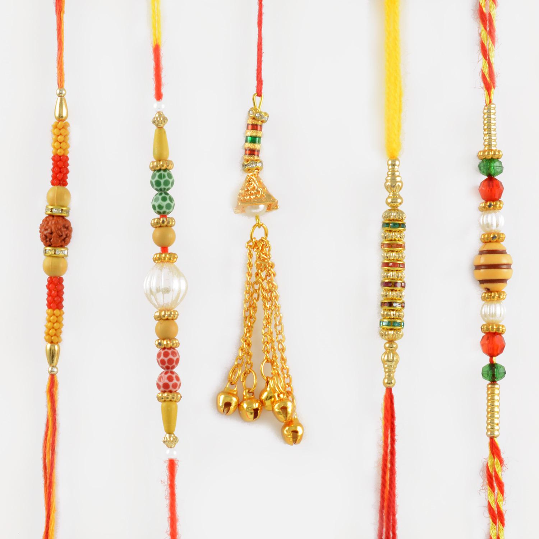 Emperial Rakhi Set of 5 Rakhis For Your Loved Ones
