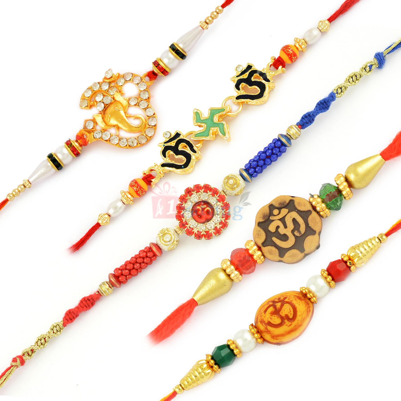 Mesmerizing 5 Rakhi Sets
