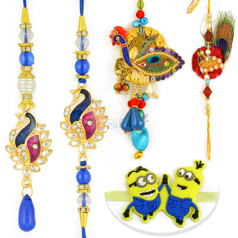 Assorted Bhaiya Bhabhi with Minions Rakhi Set