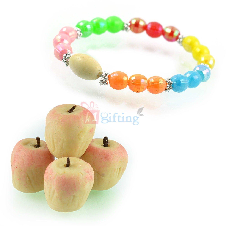 Beautiful Multi Color Beads Bracelet with Kaju Apple