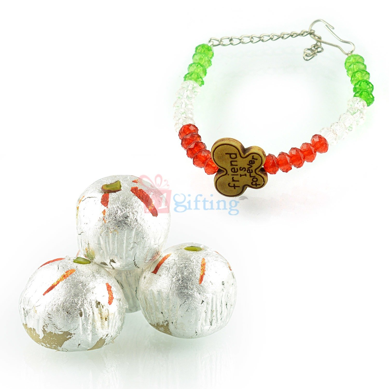 Tri Color Bracelet with Kaju Laddu Gift