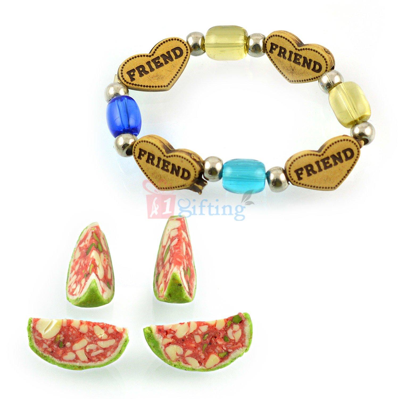 Beautiful Bracelet with Kaju Tarbooj Sweet Gift