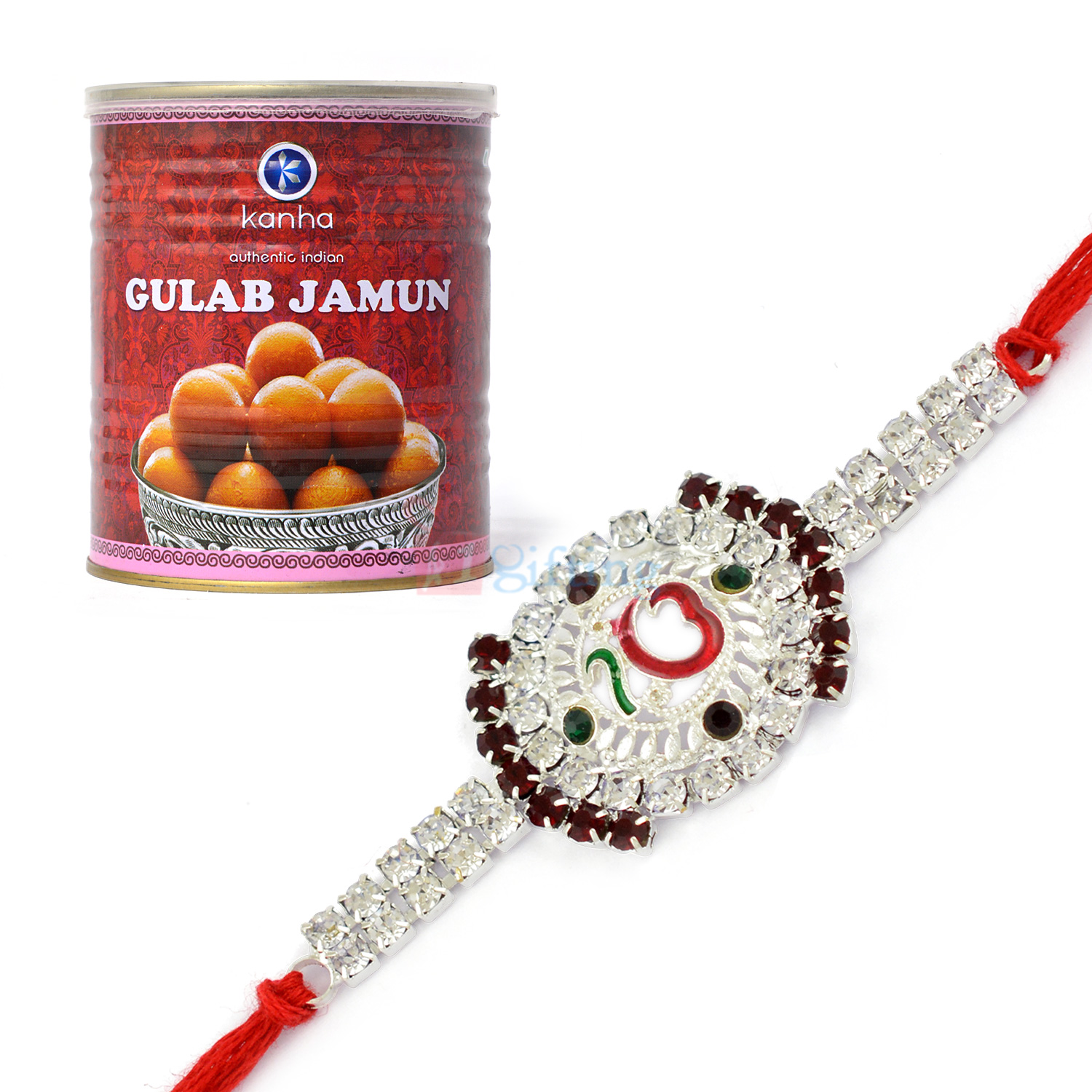 Lavishing Meena Ek Omkar Rakhi with Delicious Gulab Jamun Sweet