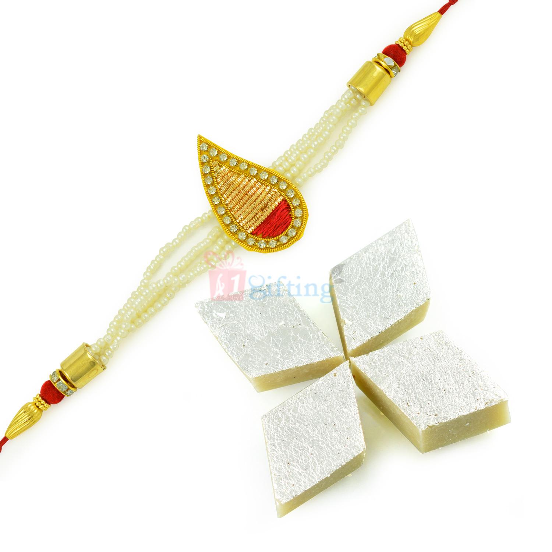 Healthy Badam Barfi with Tilak Diamond Rakhi