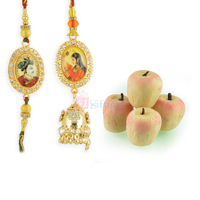 Padmini Ratan Singh Pair Rakhi with Kaju Apple