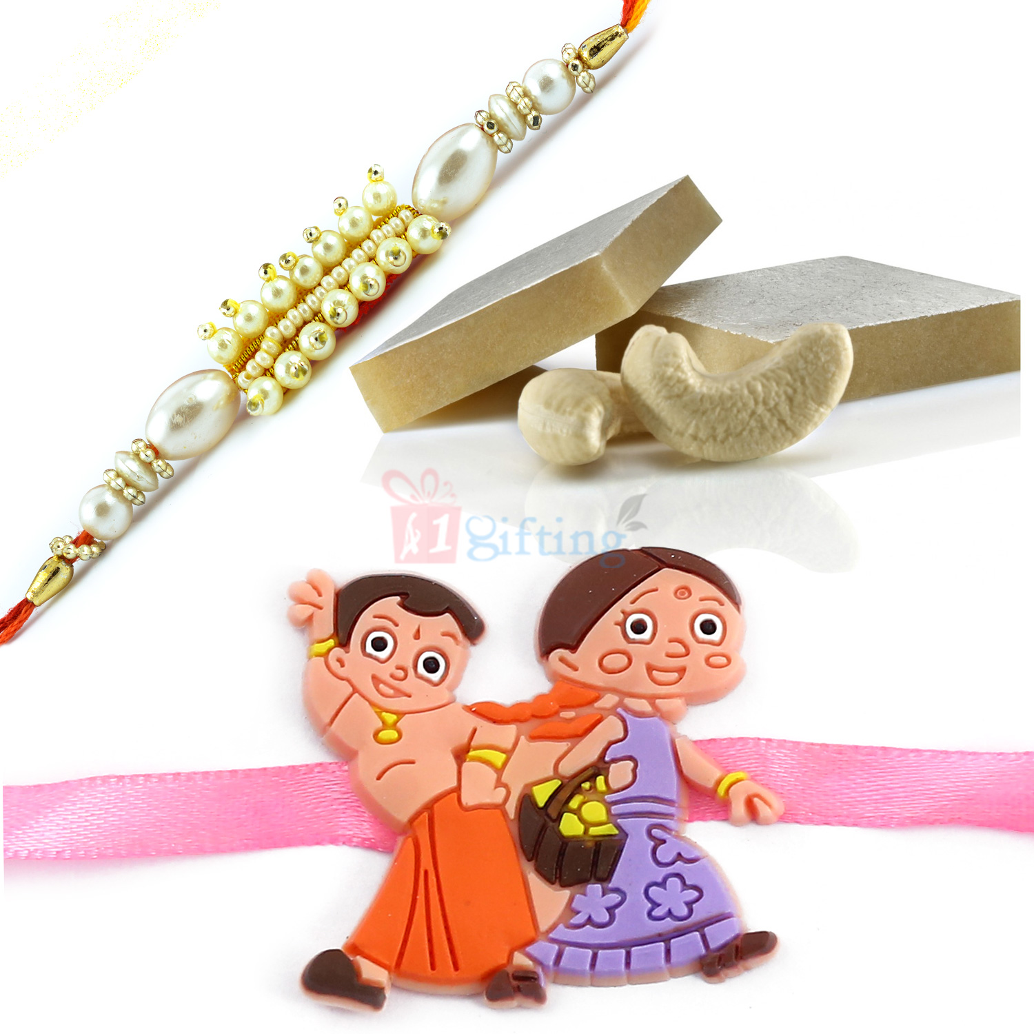 Wonderful Combo of Sweets and Kids and Brother Rakhi