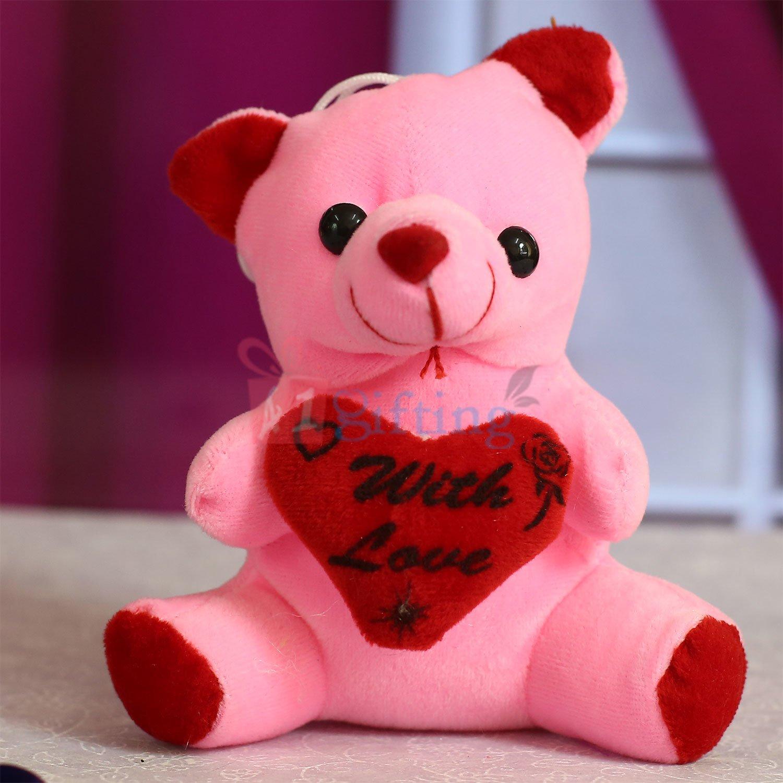 Pinky Heart Teddy Soft Toy
