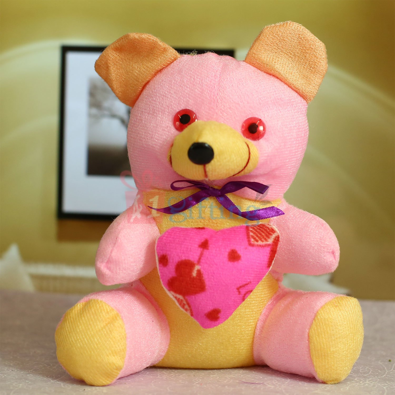 Beautiful Soft Bow Heart Teddy Bear